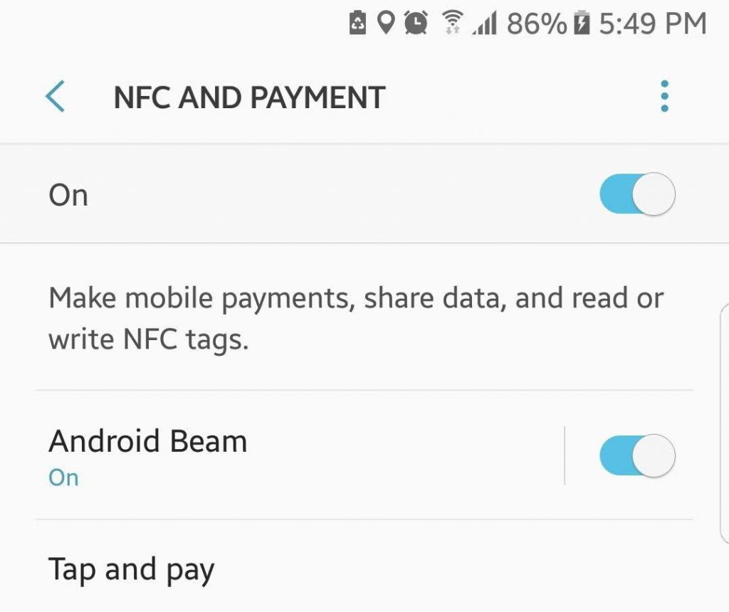 NFC and Payment