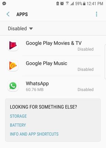 Settings > Apps