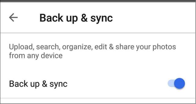 Back up & sync