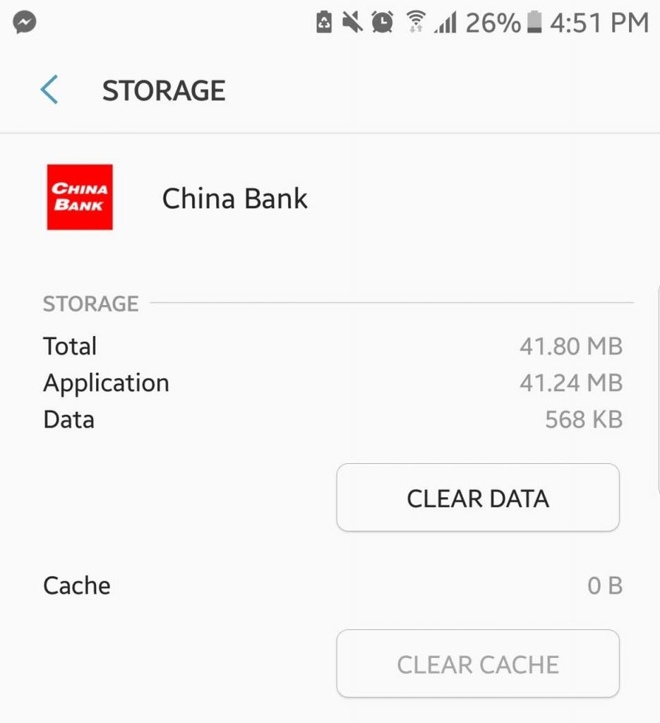Clear the App Cache