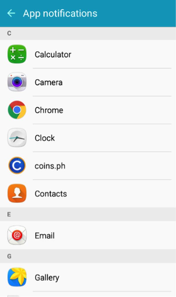 Setting Priority App Notifications