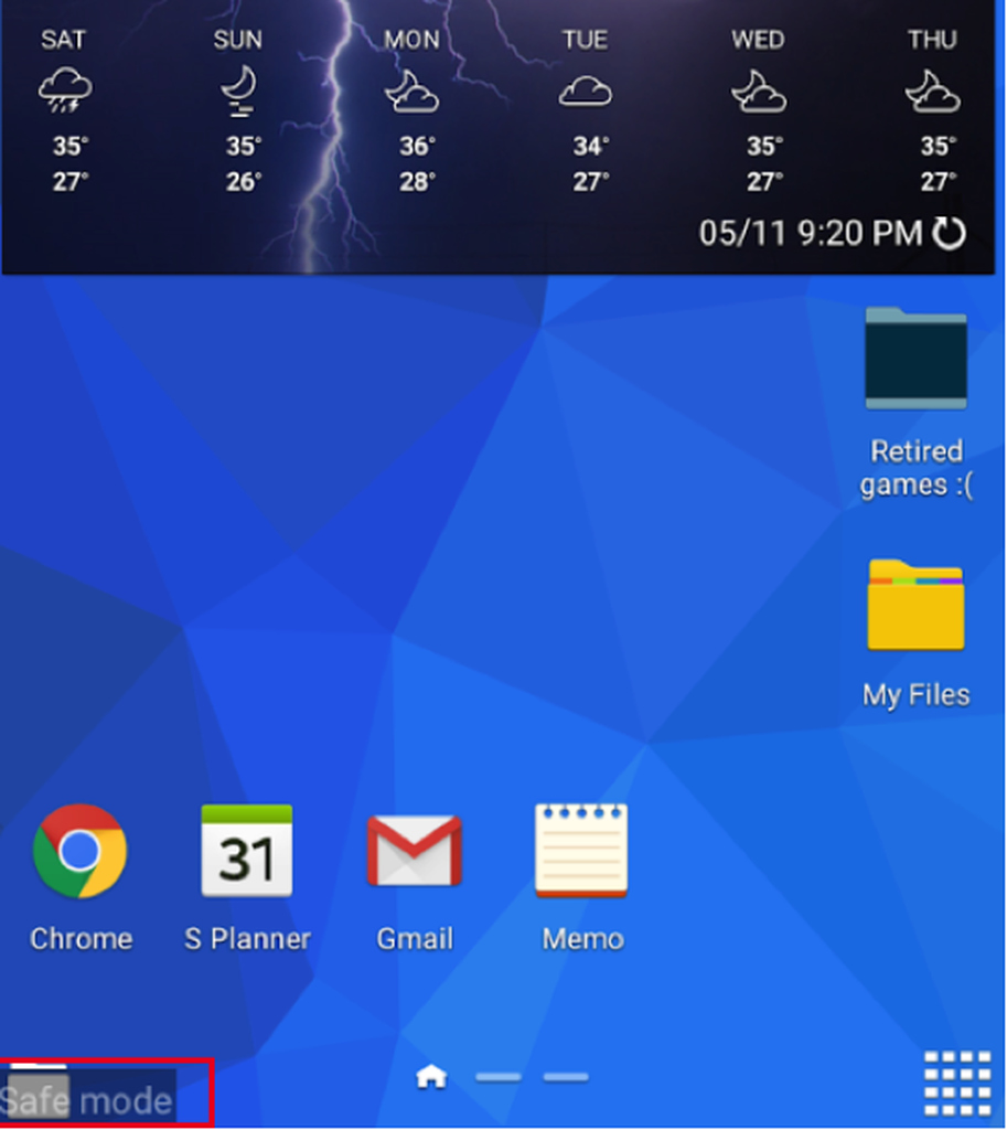 Safe Mode on Android