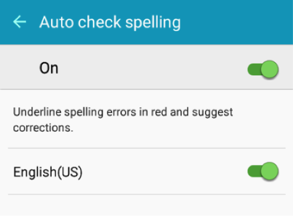 Turn on Auto Check Spelling