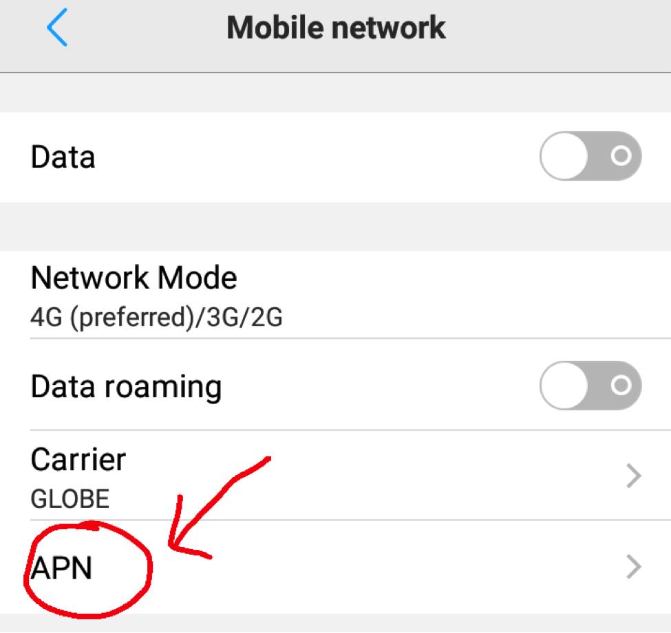 Mobile Network - APN