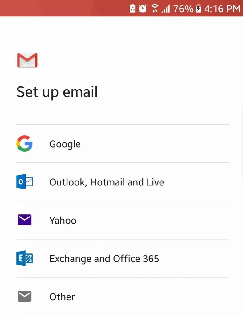 Add Email Accounts from Third-Party Services