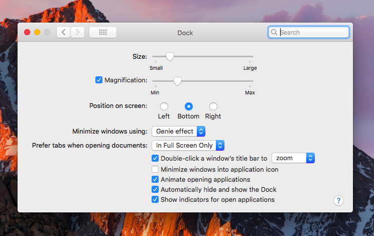 System Preferences > Dock > Automatically Hide or Show the Dock