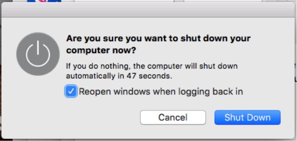 Reopen windows when logging back in