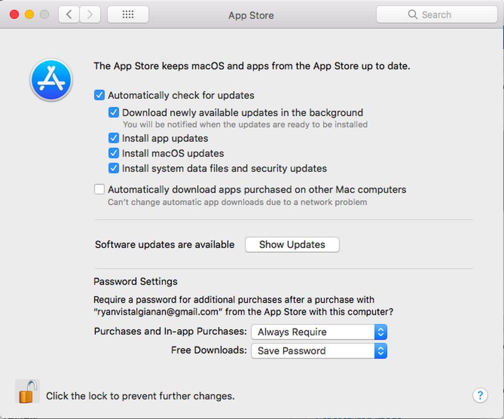 Apple menu > System Preferences > App Store