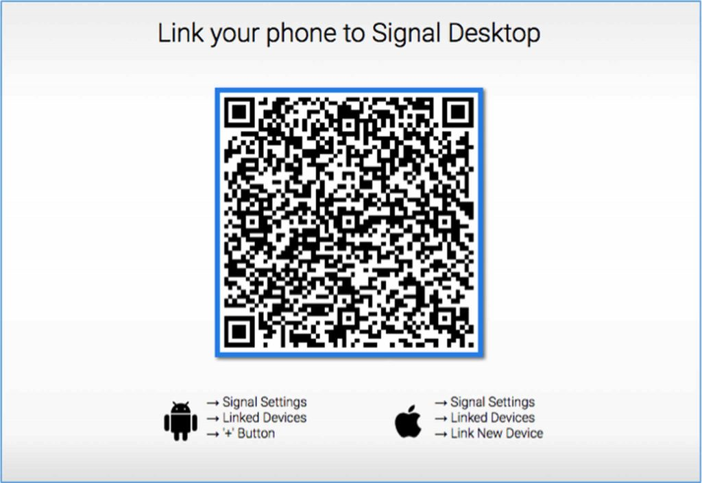 Link your phone to Signal Desktop