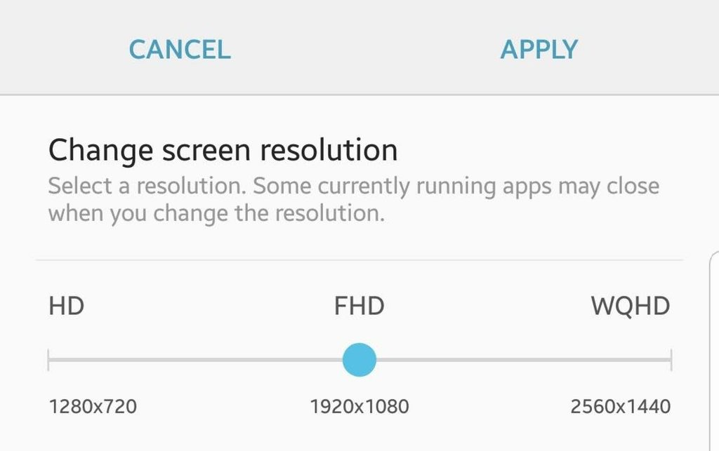 Change screen resolution