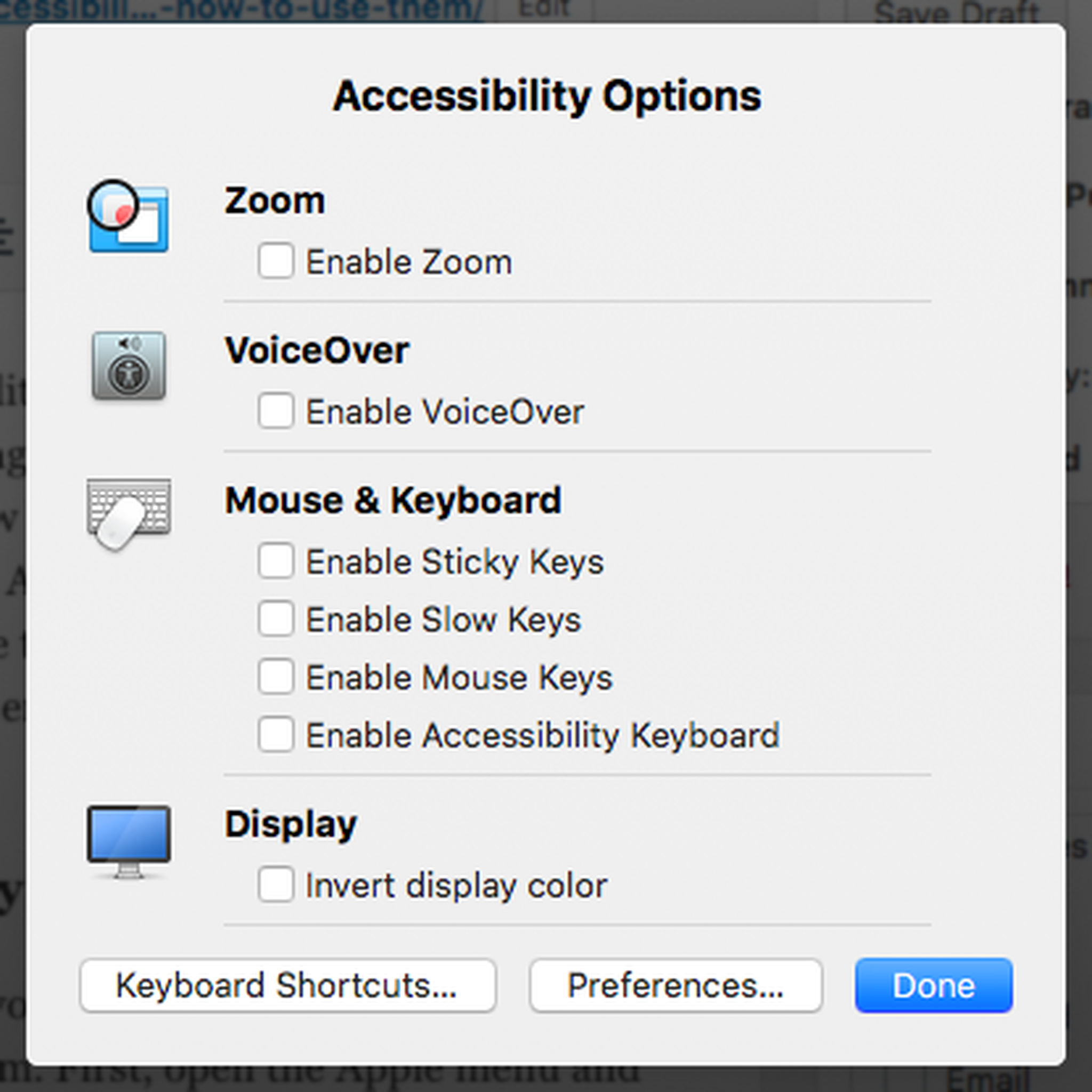 Mac's Accessibility Options 1