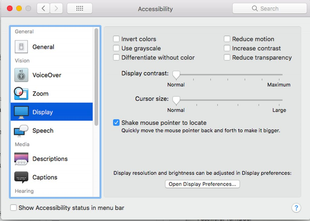 Mac's Accessibility Options