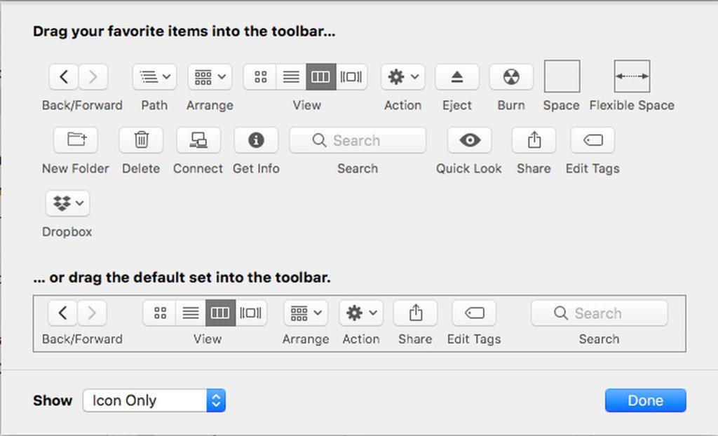 Customize Finder Toolbar