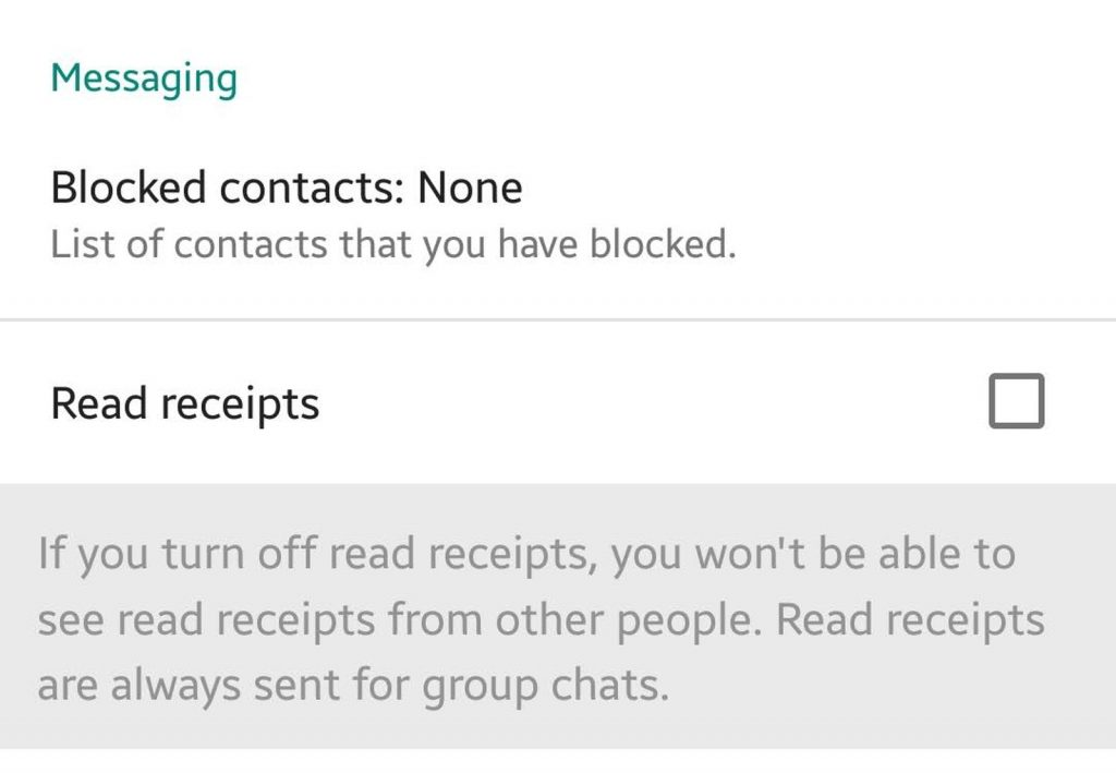 Disable Read Notifications