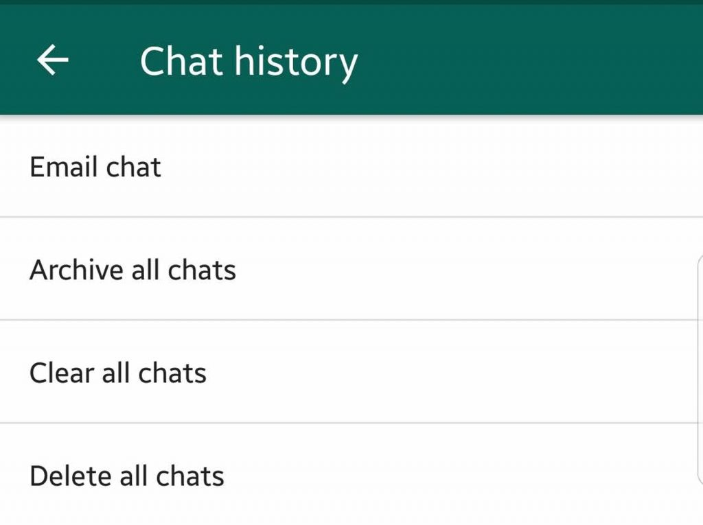 Chat history