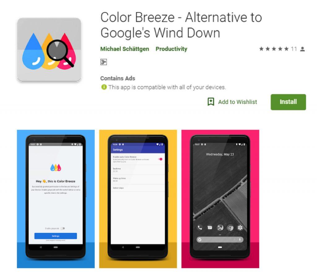 Color Breeze - Alternative to Google's Wind Down