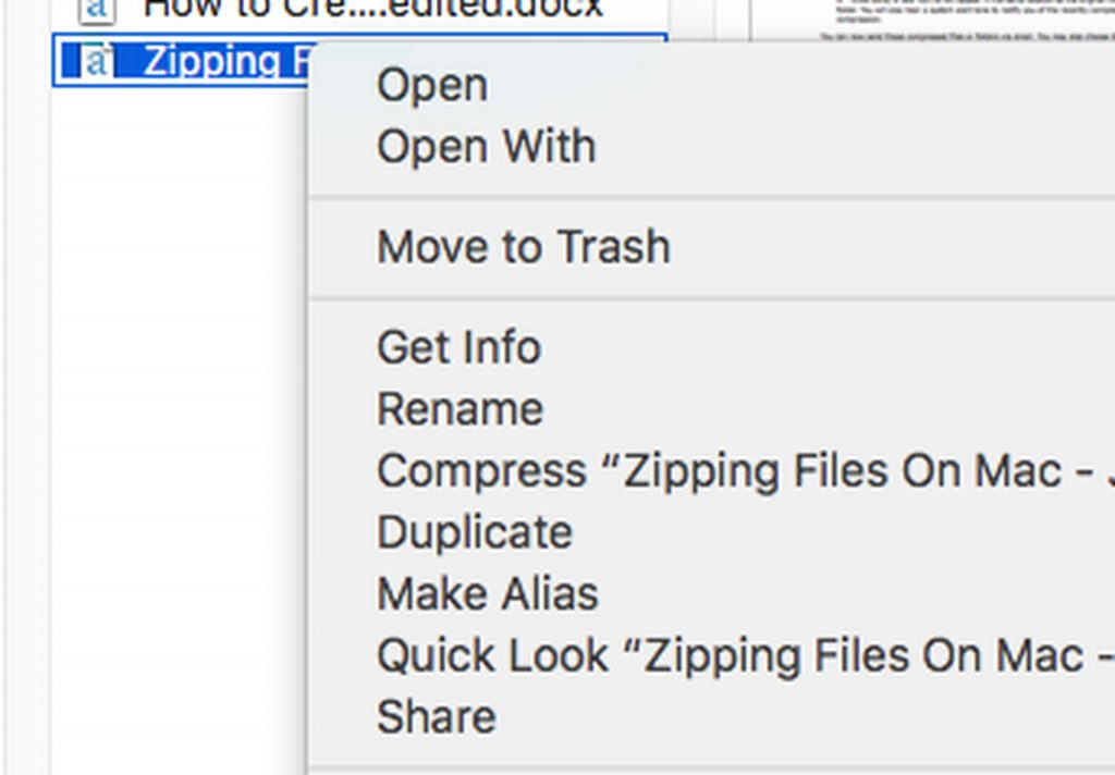 How to Zip a File on Mac