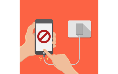Do not play smartphone in charging