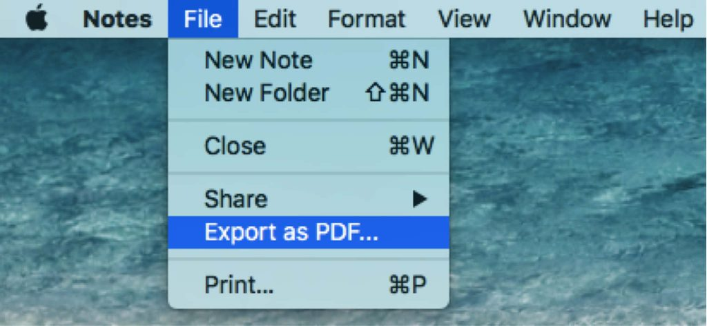 How to Export Mac Notes as PDF