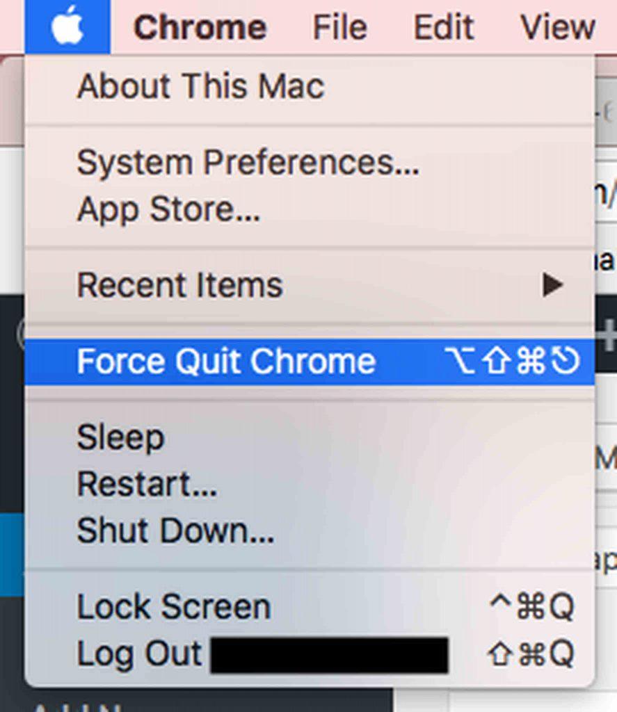 Force Quit Chrome