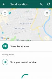 Share Live Location With Another WhatsApp User