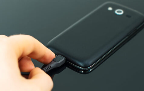 Inserting Micro USB to Mobile Phone