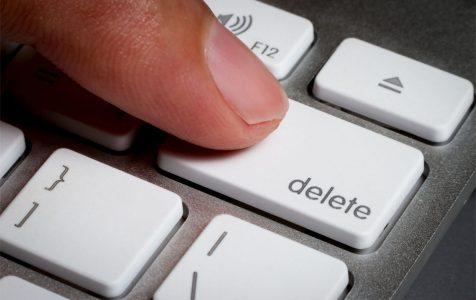 Delete key in a keyboard