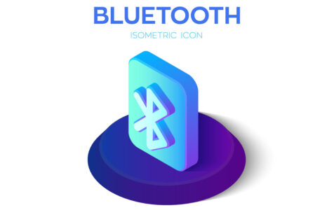 Bluetooth Isometric Icon