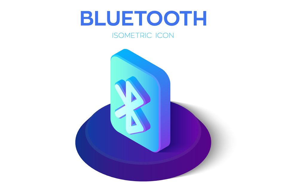 Bluetooth Isometric Icon