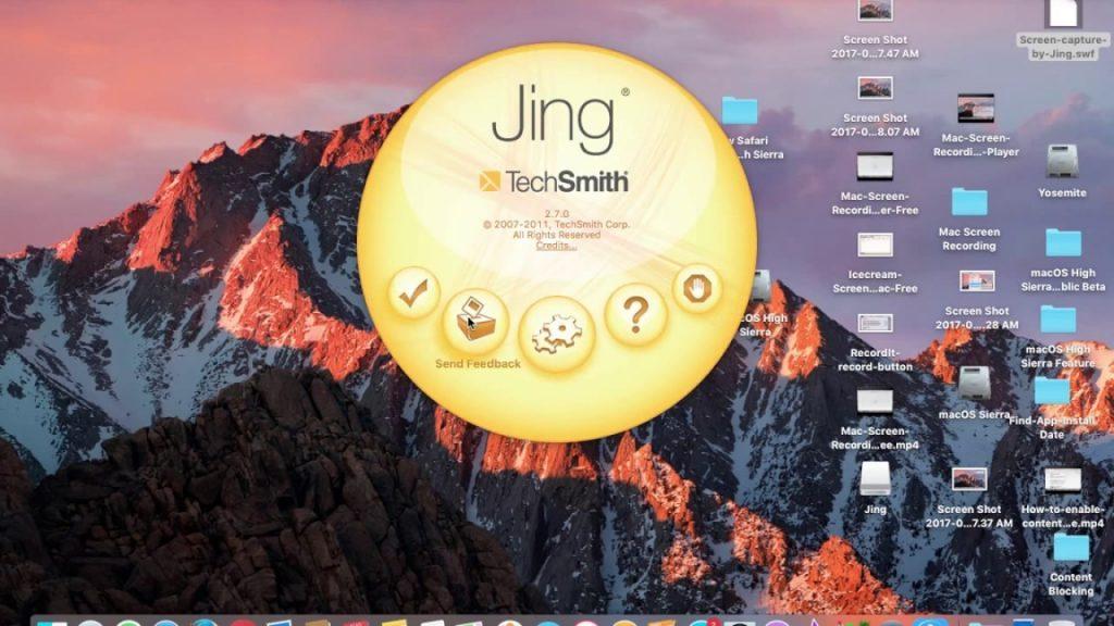 Jing on Mac Mojave