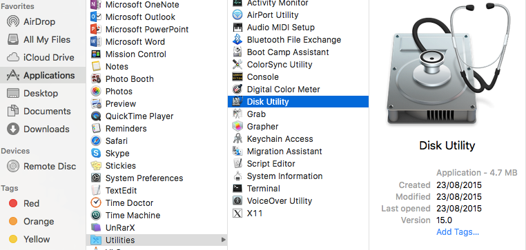 Mac OS Disk Utility