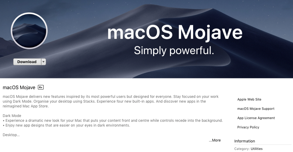 Installing macOS Mojave and Older Versions of MacOS/OS X