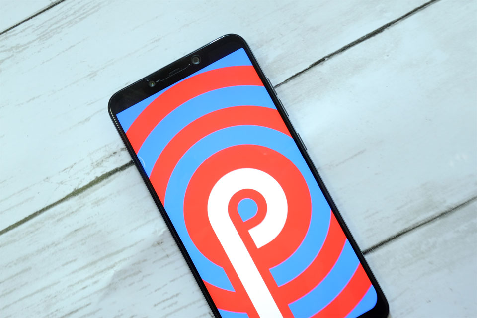 Android Pie on a smartphone