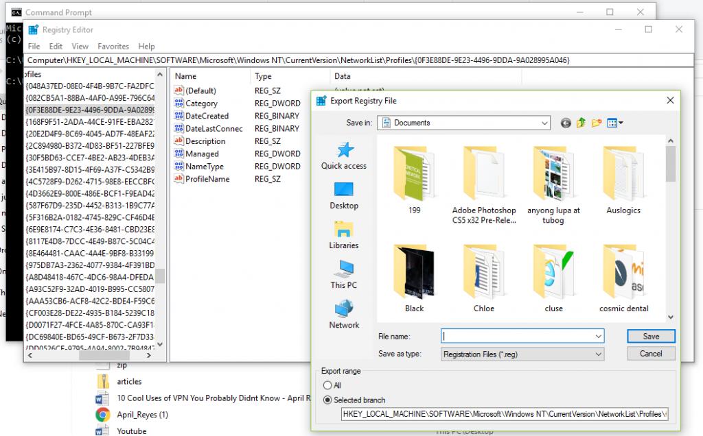 Export Registry File