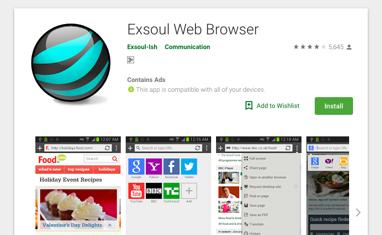 Exsoul Web Browser