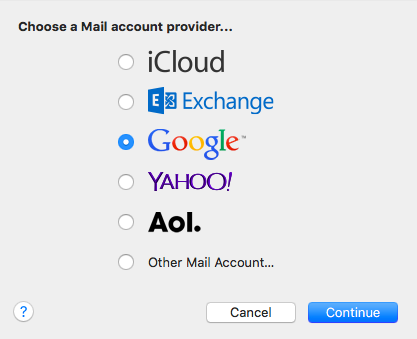 Mail Account Provider