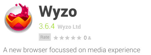 Wyzo Web Browser