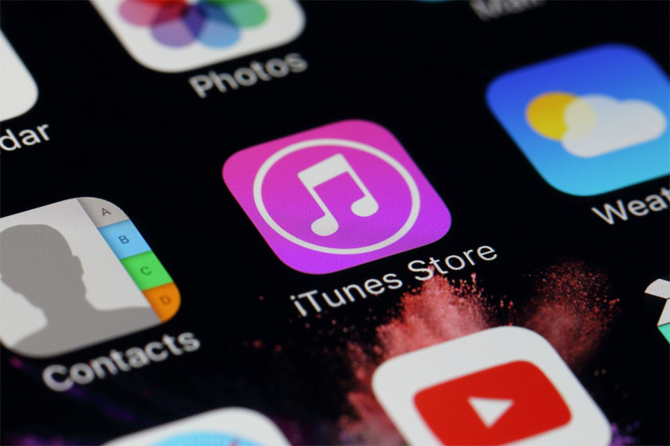 iTunes Store on IPhone screen