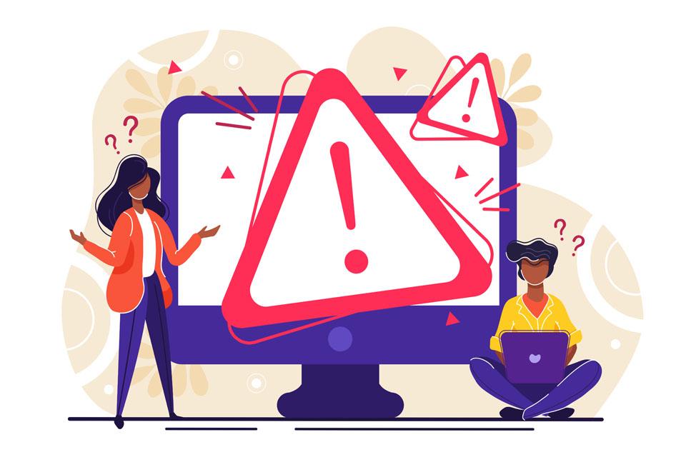 Operating System Error Warning