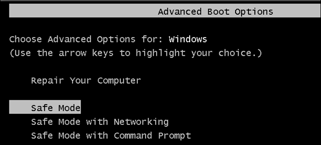 Windows Advanced Boot Options