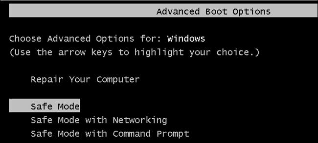 Windows Advanced Boot Options