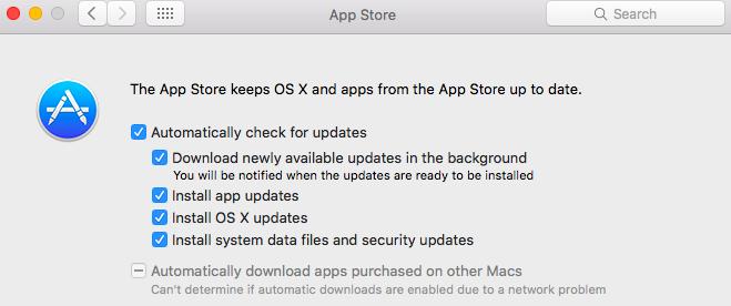 App Store Mac OS Updates