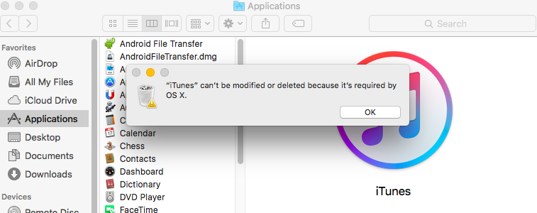 iTunes Macs Application