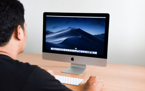 New macOS Mojave on Screen iMac computer