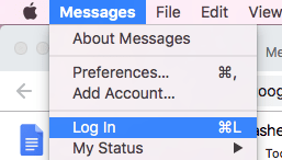 Messages App Log In
