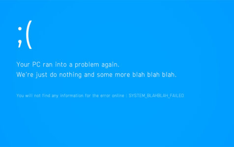 Fake Funny Blue Screen of Death