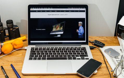 MacBook laptop with macOS High Sierra
