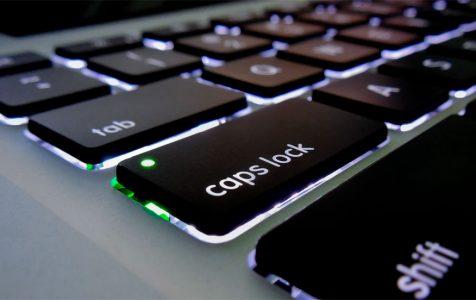 Caps Lock Key On Backlit Keyboard