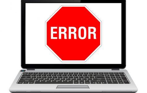 Error Icon Text On Laptop