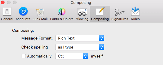 Mac Composing